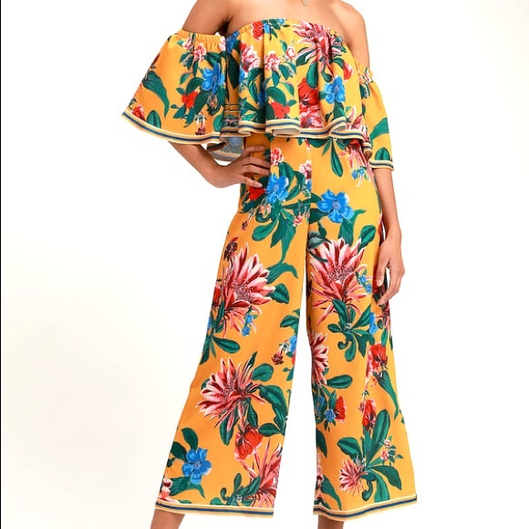 Lulus Cute Floral Jumpsuit NEW